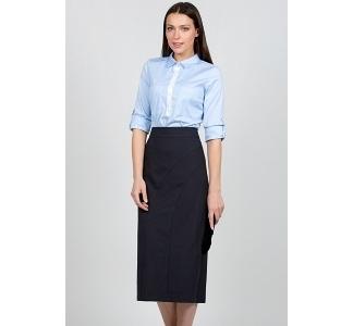 Длинная тёмно-синяя юбка Emka Fashion 516-sandra