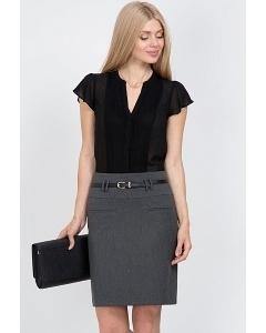 Офисная юбка серого цвета Emka Fashion 458-melanta