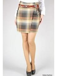 Короткая юбка в клетку | 341-suzy