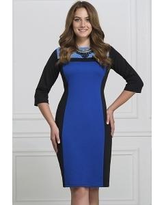 Чёрно-синее платье Rosa Blanco 3017