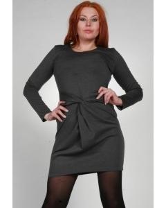 Серое трикотажное платье Chertina & Durre | 0023
