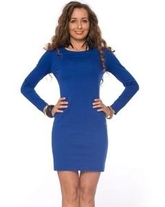 Короткое синее платье | DSP-65-37t