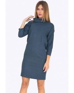 Платье прямого кроя с воротником хомут Emka PL744/shoota