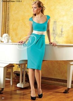 Летнее платье V&V с большим вырезом