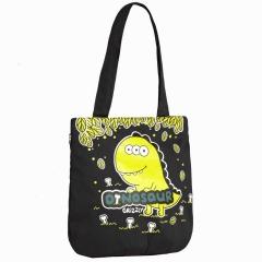 Чёрная сумка с динозавриком Grizzly | ДМ-1244
