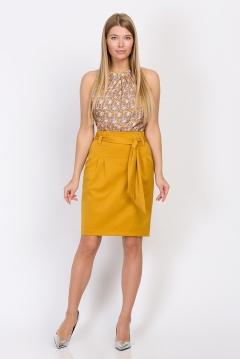 Юбка горчичного цвета Emka Fashion 421/femida