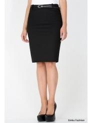 Юбка-карандаш черного цвета Emka Fashion 464-brianna
