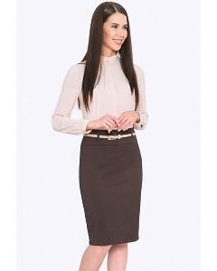 Классическая юбка-карандаш коричневого цвета Emka 202-60/grafena