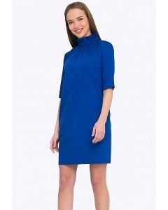 Короткое синее платье Emka PL663/rendi
