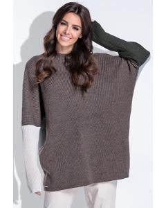 Удлиненный свитер oversize Fobya F428