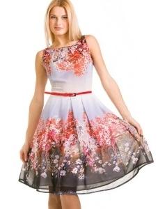 Летнее платье с пояском | 1798