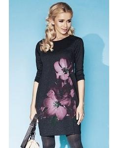 Осенне платье серого цвета Zaps Gillian