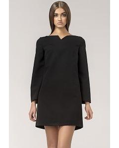 Короткое чёрное платье Nife S35