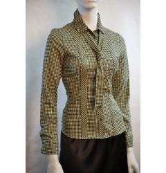 Блузка в черно-желтую клетку / Б665-990