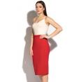 Красная классическая юбка-карандаш Donna Saggia DSU-32-29t