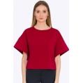 Укороченная блузка красного цвета Emka B2202/gigi