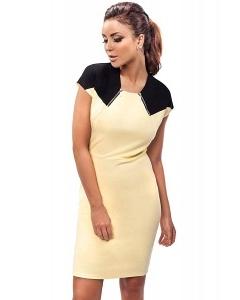 Двухцветное платье Enny 190102