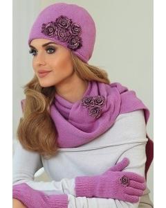 Комплект женская шапочка и шарф Kamea Eleonora