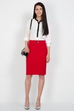 Юбка-карандаш красного цвета Emka Fashion 442-rostislava