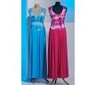 голубое и розовое платье
