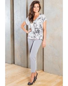 Женские брюки серого цвета TopDesign A7 092