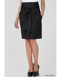 Черная юбка с широким поясом Emka Fashion 421-vega