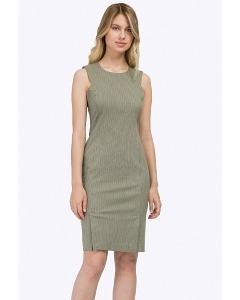 Летнее офисное платье-миди без рукавов Emka PL762/faith