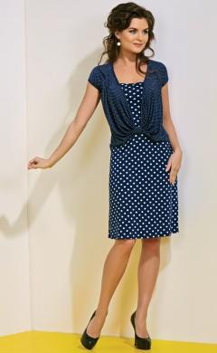 Летнее платье в горошек TopDesign A4 073