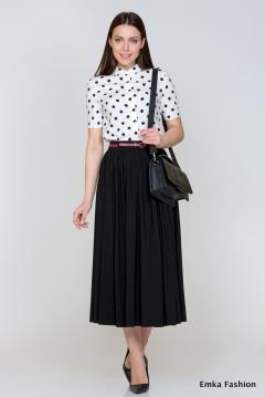Длинная чёрная юбка Emka Fashion 543-grasse