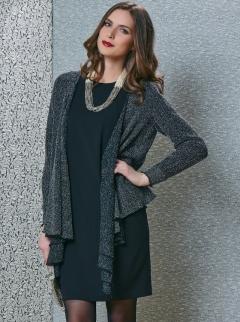 Жакет тёмно-серого цвета TopDesign B4 146
