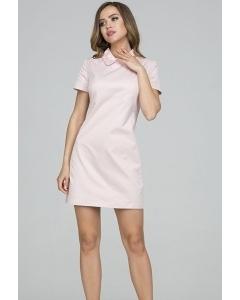 Розовое платье с кружевным воротником Donna Saggia DSP-321-54