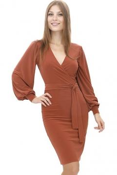 Элегантное платье с запахом