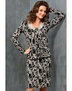 Трикотажное платье TopDesign B3 106
