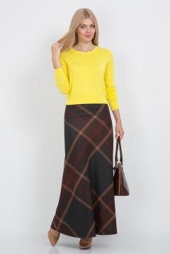 Длинная клетчатая юбка Emka Fashion 314-diana