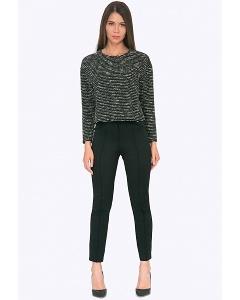 Чёрные женские брюки с отстрочкой Emka D053/neurtal