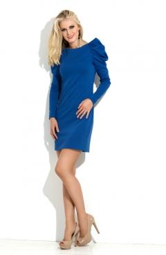 Синее трикотажное платье Donna Saggia DSP-11-37t