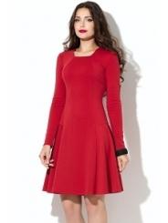 Красное платье Donna Saggia DSP-207-29t (коллекция осень 2015)