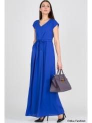 Длинное летнее платье синего цвета Emka Fashion PL-414/tefia