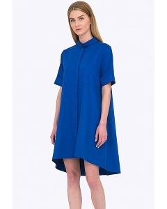 Свободное синее платье рубашечного кроя Emka PL592/rendi