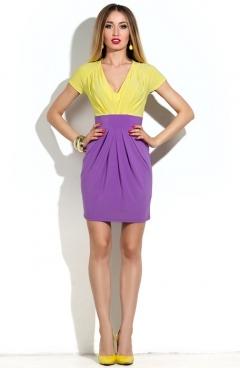 Короткое яркое платье   DSP-22-54t