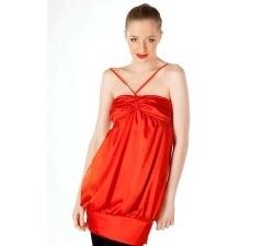 Красное атласное платье Golub