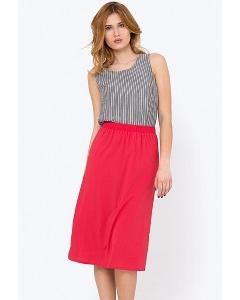 Ярко-розовая летняя юбка Emka 705/makki