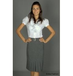 Прямая юбка серого цвета