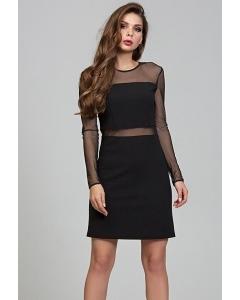 Чёрное мини-платье Donna Saggia DSP-308-4t
