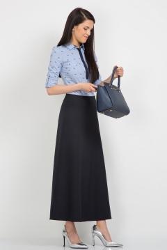 Длинная тёмно-синяя юбка Emka Fashion 314-abrama