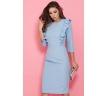 Платье-футляр голубого цвета Donna Saggia DSP-295-4