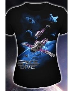 Женская футболка Space Dive (Светится в ультрафиолете)