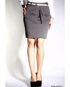 Короткая юбка с баской Emka Fashion | 359-leche