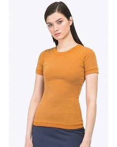 Женская трикотажная блузка горчичного цвета Emka B2340/cuanta