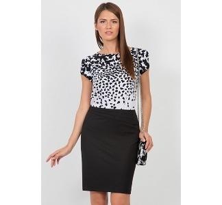 Изящная юбка чёрного цвета Emka Fashion 558-almaza